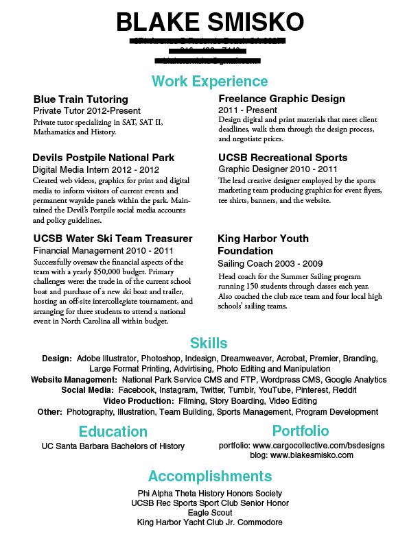 resume tips tumblr